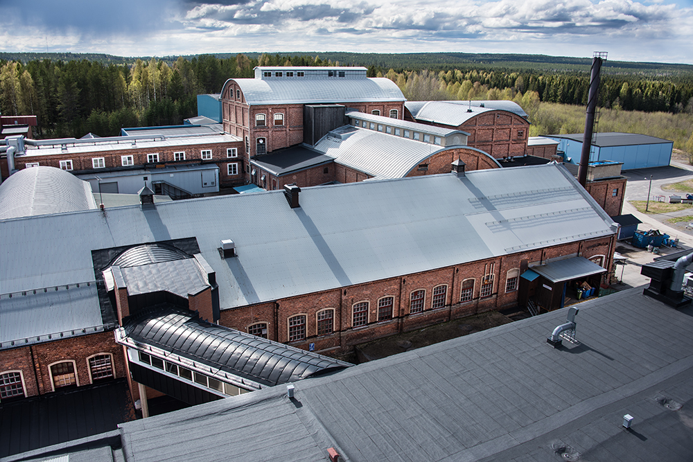 The factory seen from above.